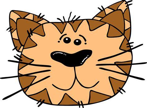 gambar harimau format png gambar vektor gratis kucing wajah kartun bergaris