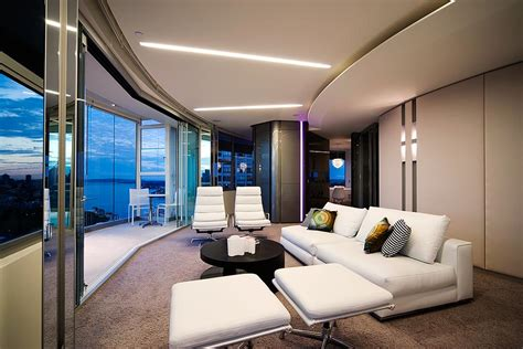 Contemporary Apartment Design | modern apartment interior design in warm and glamour style