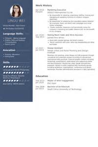 marketing executive cv template marketing executive resume sles visualcv resume
