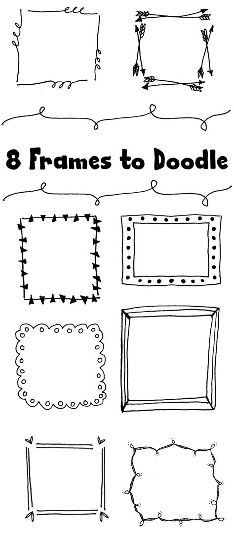 how to draw doodle frames 8 frames to doodle designs 174