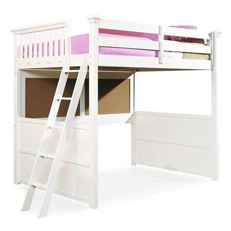 White Loft Bunk Bed White Size Loft Bunk Bed For With Ladder Decofurnish
