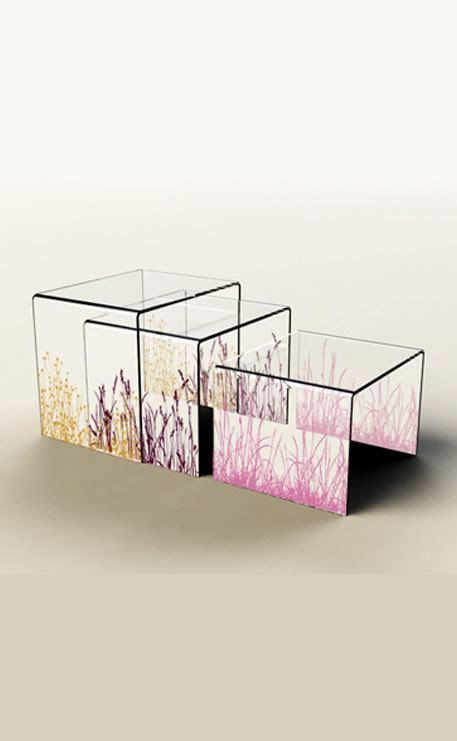 table basse plexiglass gigogne transparente quot city quot