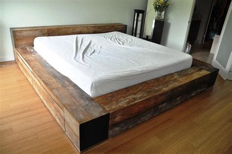 homemade wooden beds homemade wood platform bed bed design pinterest