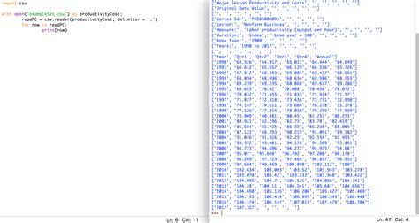 excel python csv reader prints column instead of row