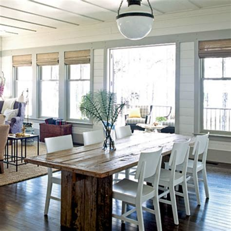 coastal dining room tables spotted from the crow s nest beach house tour seabrook