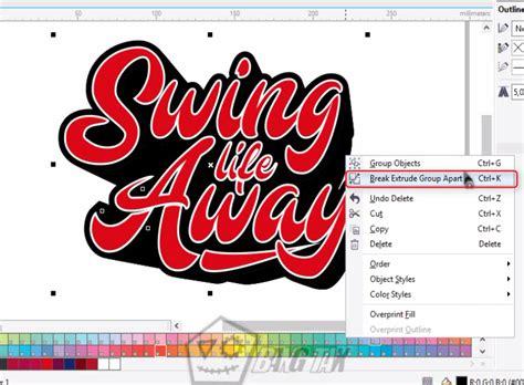 membuat outline text di corel cara membuat typography text di coreldraw ver 2 bangtax