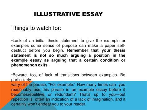 Exle Of Illustration Essay by What Is A Illustration Essay