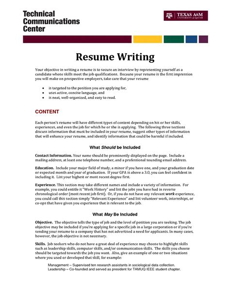 Writing An Objective For Resume by How To Write A Resume Fotolip Rich Image And Wallpaper