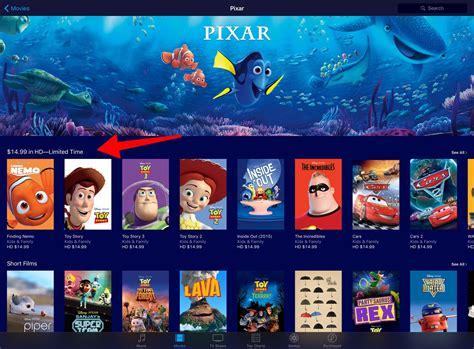 film disney or pixar pixar movie sale on itunes rope drop dot net
