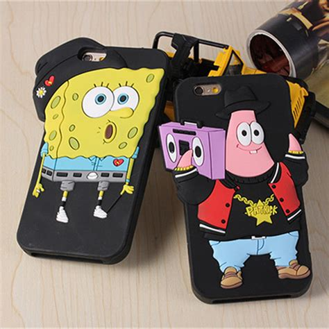Iphone 6 Plus Iphone 6s Plus 3d 3d spongebob silicone cover for apple iphone 6 6s plus ebay