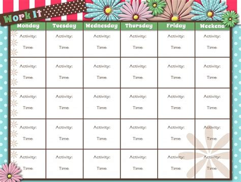 fitness calendar template printable workout calendar activity shelter
