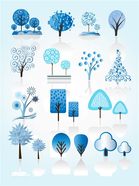 winter tree from snowflakes by the vector colourbox winter tree vectors vector graphics freevector