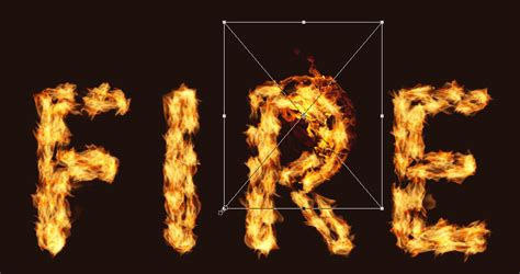 The Place In Flames Tab How To Create A Text Effect In Adobe Photoshop