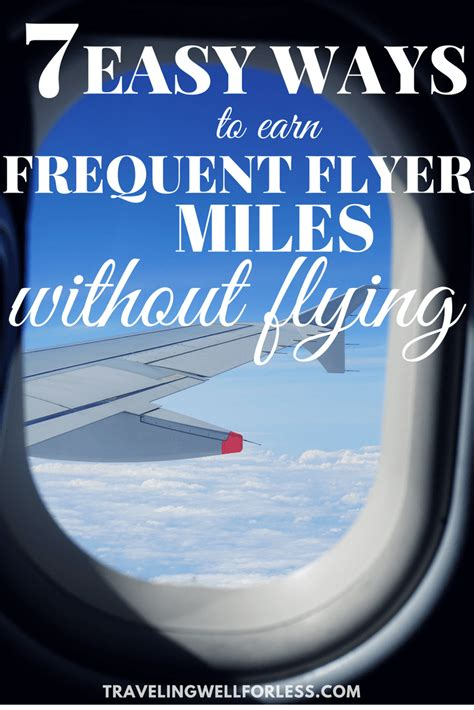 7 easy ways to earn frequent flyer without flying