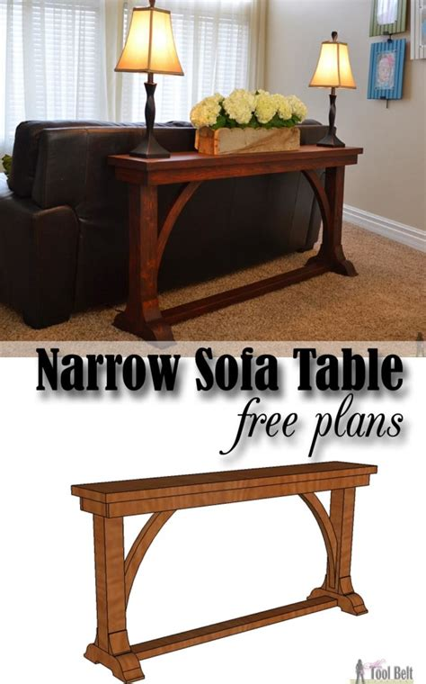 sofa table plans free narrow sofa table her tool belt