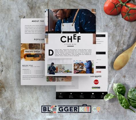 indesign template media kit chef resume template word indesign and psd format