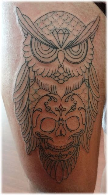 owl skull tattoo meaning owl and skull designs