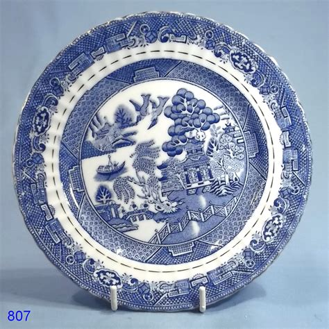china designs bell china vintage willow pattern tea plate collectable china