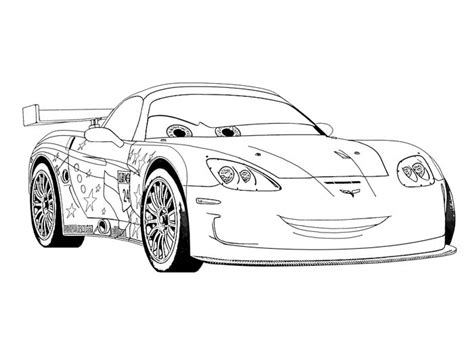 free coloring pages of corvette super cars