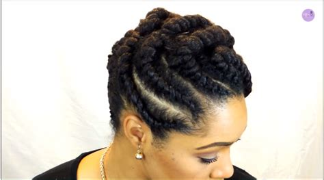 and elegan flat twist protective style