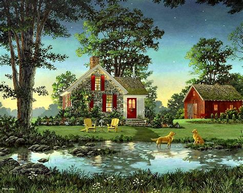 house portrait artist fred swan on pinterest vermont artists and yellow cottage