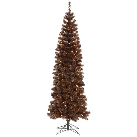 9 Foot Mocha Pencil Christmas Tree Mini Lights B103981 Tree Mini Lights