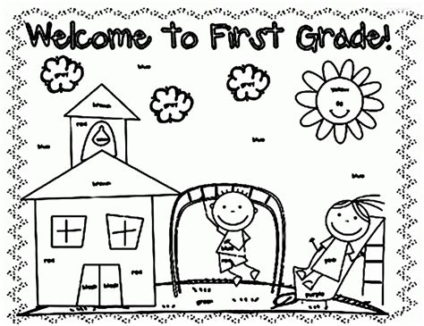 Free Coloring Pages For First Grade Coloring Home Free Coloring Pages For Graders