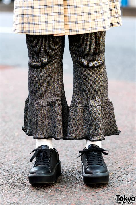 kenshi yonezu earrings retro street fashion in harajuku w burberry tunic dress
