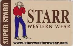Starr Restaurants Gift Card Balance - buy starr western wear gift cards at a discount