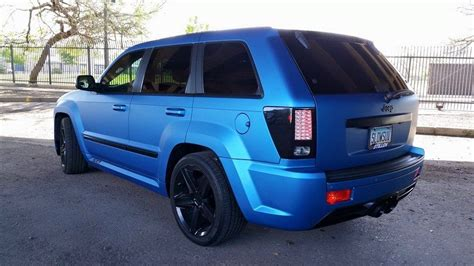 jeep matte blue jeep grand cherokee 3m matte metallic blue vinyl wrap