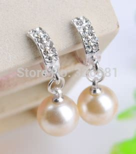 Comfortable Clip On Earrings by U Clip Rhinestone Earrings Without Pierceing Non Pierced Earring Comfortable Pearl Clip