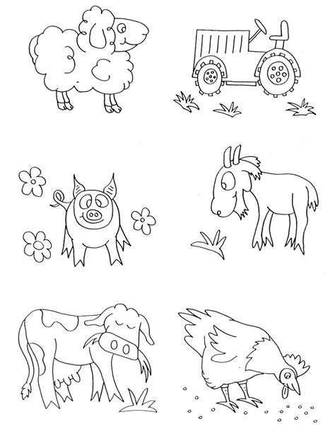 printable farm animal images free farm animal coloring pages az coloring pages