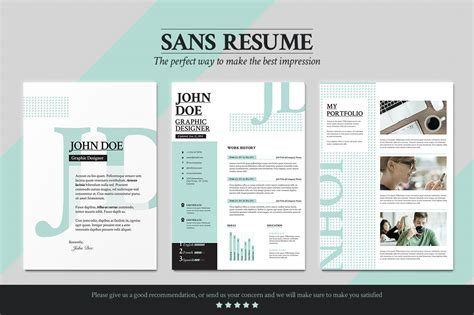 Portfolio Cv by Sans Resume Cover Letter Portfolio Resume Templates On