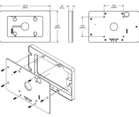 vesa mount for glass removable tilting glass mount galaxy tab a 7 0