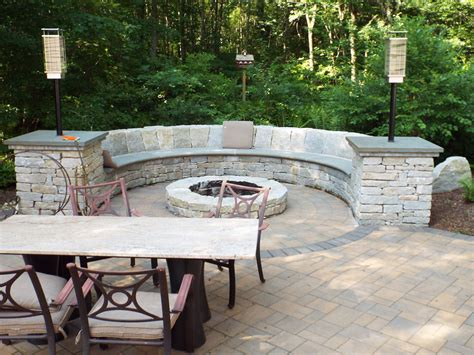 fire pit bench fire pit bench by landscape solutions maintenance
