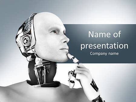 Futuristic Robot Powerpoint Template Backgrounds Id Robotics Ppt Templates Free