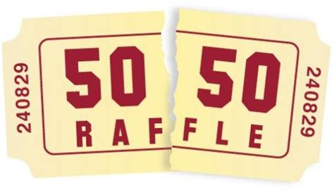 50 50 raffle ticket template raffle cliparts