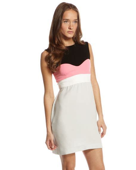 Tamika Dress diane furstenberg tamika colorblock dress cusp top