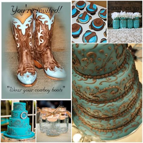 quinceanera western themes aqua blue country western sweet fifteen quinceanera theme