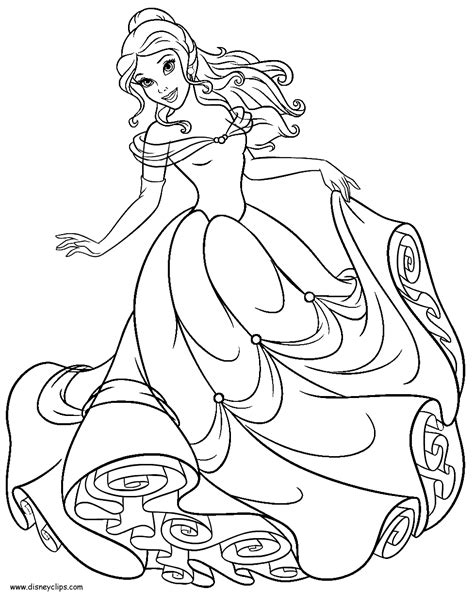 beauty and the beast printable coloring pages 2 disney