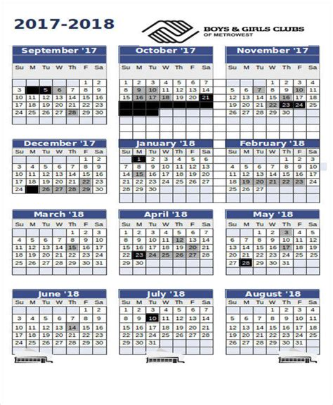 yearly academic calendar excel template 17 calendar templates in excel sle templates