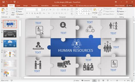 human powerpoint template animated human resources powerpoint template