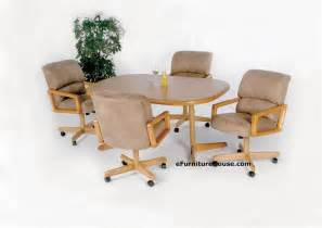 Kitchen Table Sets With Caster Chairs 23 Kitchen Table And Chairs With Wheels Cheapairline Info