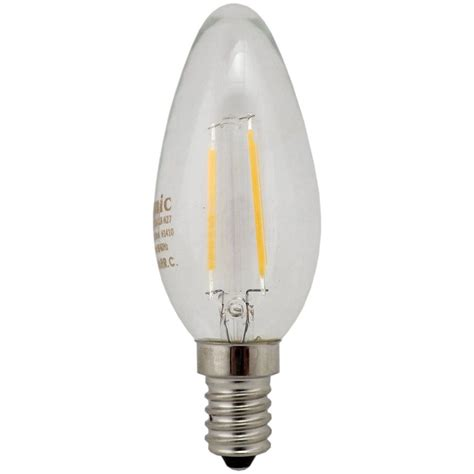 Candle L Bulbs by Filament Led Candle Bulb 2w E14 Ses Clear
