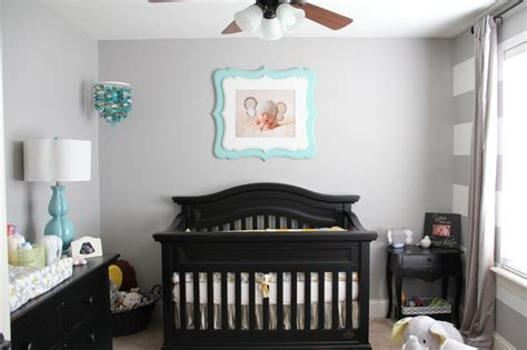 black nursery furniture on