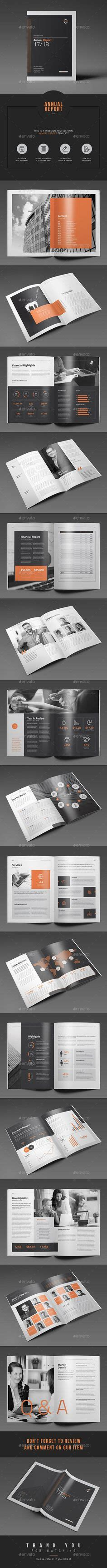 Https Graphicriver Net Item Divided Annual Report Template 13185075 Annual Report Template Indesign Indd Here Https
