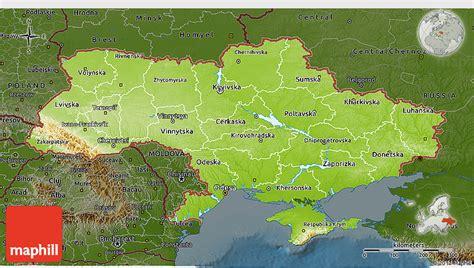 physical map of ukraine physical 3d map of ukraine darken