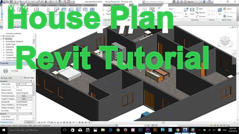 autodesk revit complete house plan tutorial part 1