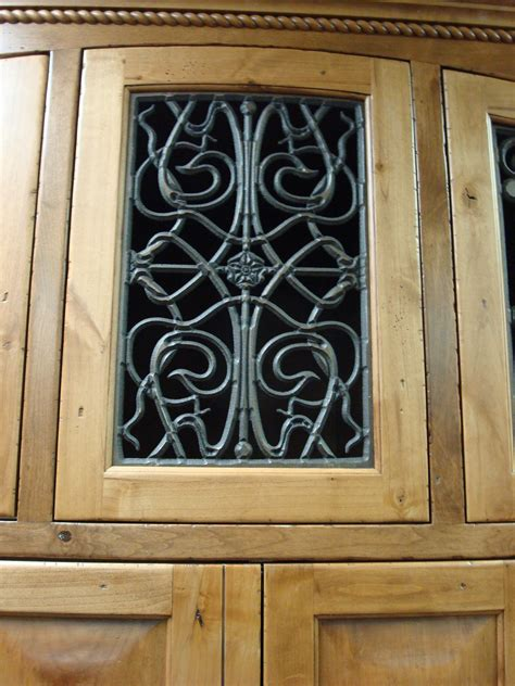 Wrought Iron Cabinet Door Inserts Faux Wrought Iron Cabinet Door Insert Flickr Photo