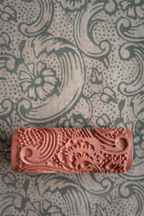 Roll Cat Motif Patterned Paint Roller 243 wallpaper paint the paint roller that creates a wallpaper look